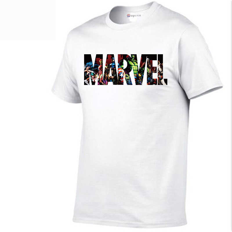 New summer fashion MARVEL T-shirt men's cotton short-sleeved casual men's miracle T-shirt men's shirt T-shirt free shipping