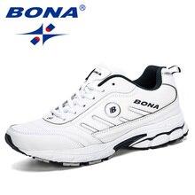 BONA 2019 ฤดูใบไม้ผลิฤดูใบไม้ร่วงรองเท้าผู้ชาย Running Breathable กีฬากลางแจ้งรองเท้า Zapatos วิ่งสบายรองเท้าผ้าใบชาย