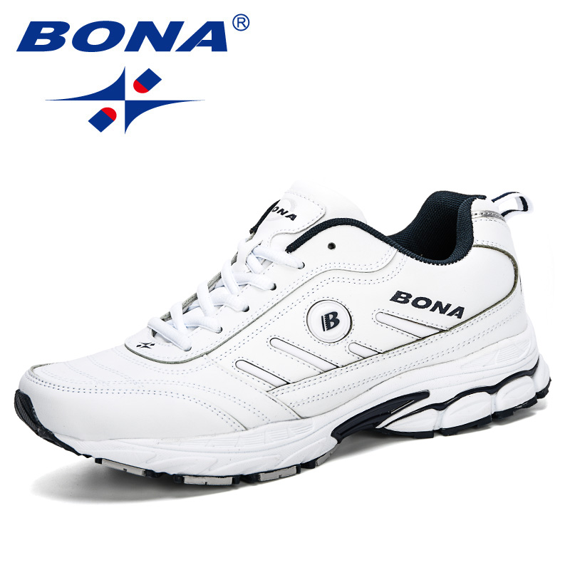 BONA 2019 Spring Autumn Men Running Shoes Breathable Outdoors Sports Shoes Zapatos Jogging Comfortable Athletic Male Sneakers