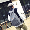 New fashionable canvas men's backpack college student school book bag vintage male's travel bag leisure laptop shoulder bag