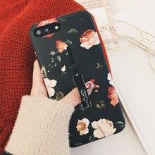 Цветок для iPhone 6 Plus 8 плюс 7 Plus кольцо, подставка-держатель мягкого кремния ТПУ телефон чехлы для iPhone X 8 7 6 6s плюс Чехол i7