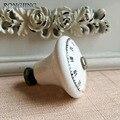 5x Branco Gabinete Cerâmica Porcelana Crianças Dresser Puxadores Móveis Roupeiro Armário Armário Maçanetas de Gaveta Rural Do Vintage Puxar