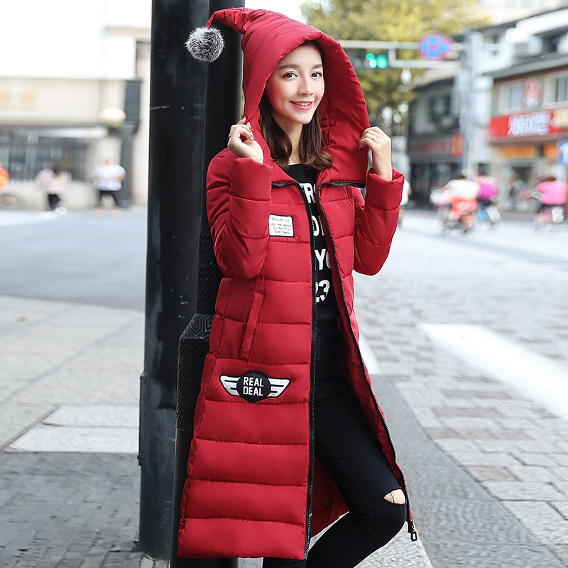 2016 New Fashion X-Long Hooded Winter Jacket Women Thick Warm Cotton-Padded Parkas Down Jackets Women Coat Manteau Femme Hiver women s thick warm long winter jacket parkas mujer hooded cotton padded coat female manteau femme jassen vrouwen winter mz1954