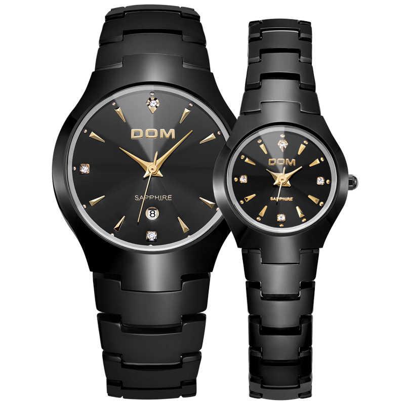 ... Мужские часы DOM бренд Вольфрамовая сталь Роскошные наручные 30 м  водостойкие деловые кварцевые часы модные повседневные ... 35a81a9fca883