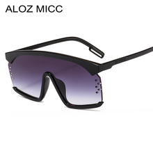 ALOZ MICC Oversized One Piece Sunglasses Women 2019 Fashion Square Outdoor Sun Glasses Men Female Vintage Shade Goggles Q333