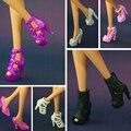 2016 Новые Красочные Аксессуары Оригинальные туфли для куклы барби мода кристалл обувь 15 стиль обуви доступны