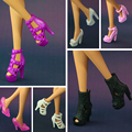 2016 New Colorful Accessories Original shoes for barbie doll fashion crystal shoes 15 style shoes available