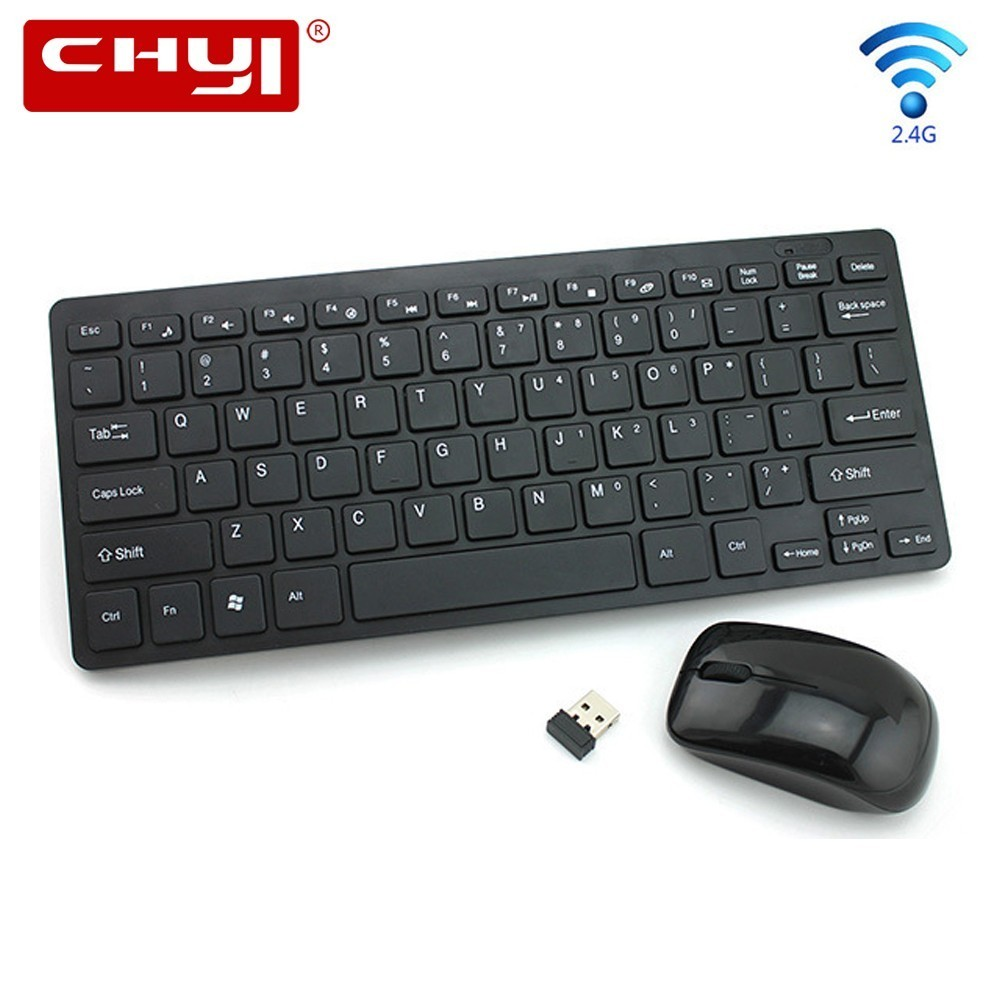 CHYI Wireless Mouse Keyboard Combo Ergonomic 2.4Ghz Ultrathin Keypad with 1200DPI Mice Kit Protective Film For PC Laptop Desktop machenike t57 gameing laptop keyboard protective film black