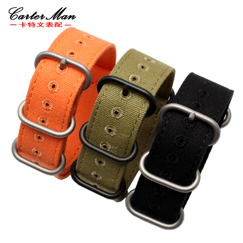 20mm 22mm 24mm Notch Watchband Strap for women' Men's Watch Band Zulu Military sports strap Nylon Watch Band Straps