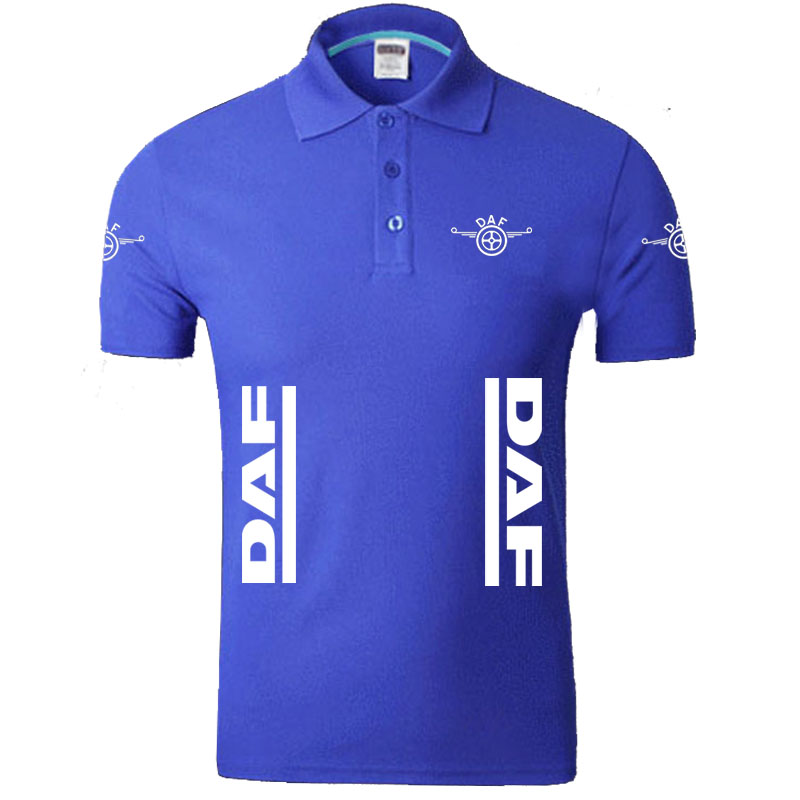Summer DAF logo Men   Polo   Shirt Brand Clothing Cotton Casual   Polo   Shirt Short Sleeve   Polo   Shirt