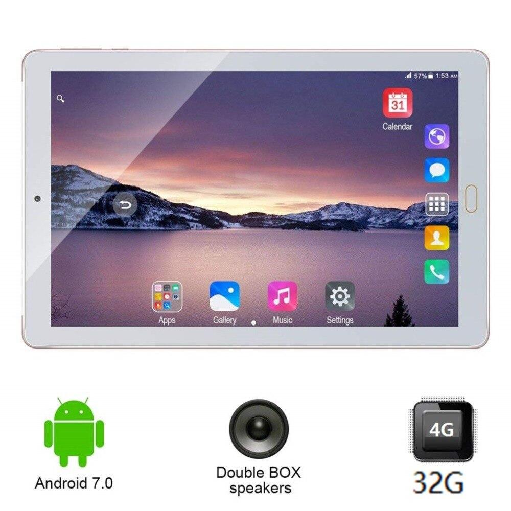 Nouveau 10.1 pouce comprimés PC D'origine 3g Appel Téléphonique Android 7.0 tablet Quad Core 32 gb 8000 mah double caméra Tablet soutien TF carte OTG
