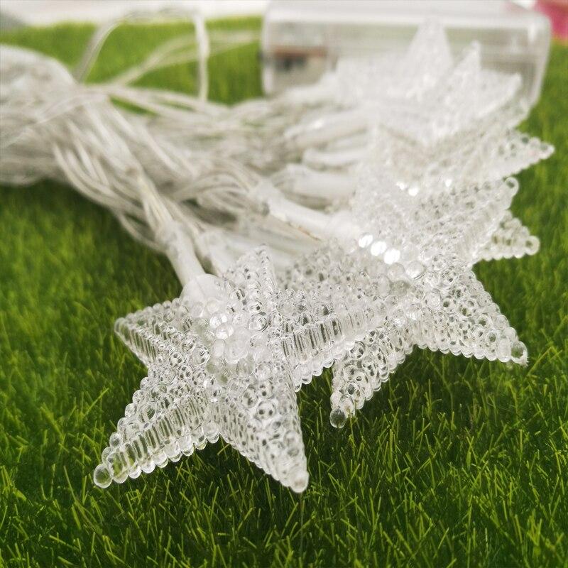 3M 30led Outdoor Fairy Lighting For Christmas Garden Wedding Party LED Star String Light, bright battery powered star led string