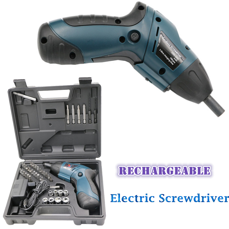 Mini Rechargeable Ni-Cd Cordless Electric Screwdriver Multifunctional Wireless Practical Handle Drill Tool set Automatic Tools mini small cordless electric rechargeable screwdriver 4 8v 180rpm 20pcs screwdriver bits 3pcs drill for home use diy tools