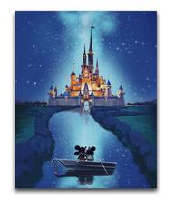 LOUVIZEM Full Round Diamond Mosaic Cartoon Castle 5D DIY Painting All-round Embroidery Cross Stitch Sale