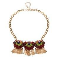 NJ New Arrival Czeski Akrylowa Sowa Tassel Naszyjnik Dla Kobiet Biżuteria Hurtowych Darmowa Wysyłka
