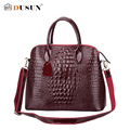 DUSUN Luxury Genuine Leather Alligator Texture Handbag Woman Messenger Women Leather Handbags Feminina Shoulder Bag Casual Tote