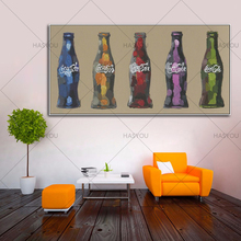 100% Hand Painted Abstract Modern Oil Painting On Canvas coca cola Picture Wall Decoration For Dining Room bar Decor Art