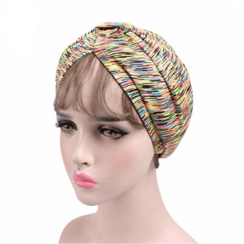 New Arrival Women Turban Hats Stretchy Sport Hats Dome Hat Yoga Caps Head Wrap Chemo Hats Bandana Hijab knotted Indian cap skullies 2017 fashion new arrival indian yoga turban hat ear cap sleeve head cap hat men and women multicolor fold 1866688
