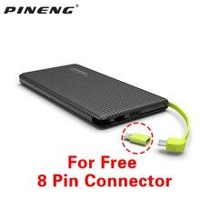 الأصلي Pineng PN951 قوة البنك 10000mAh USB بنيت كابل شحن شاحن بطارية خارجي ل iPhone8/X سامسونج شاومي