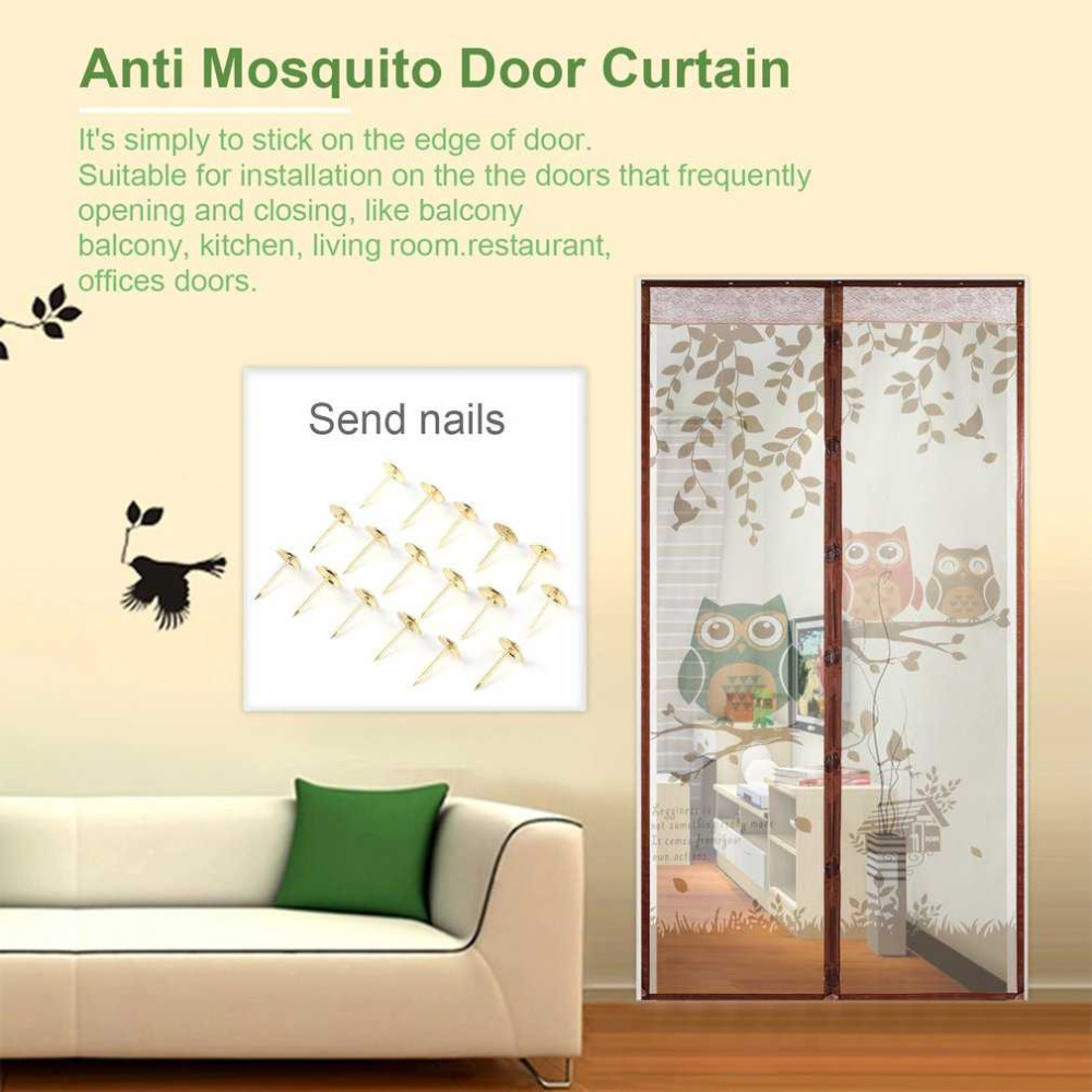 magnetic screen door curtain mosquito net room divider bug curtain ...