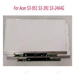 13.3 cal do projektora Acer S3-951 S3-391 S3-2464G lcd do laptopa ekran B133XW03 V3 B133XTF01.0 B133XTF01.1 B133XTF01.2
