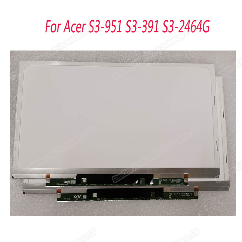 Free Shipping 13.3 Inch For Acer S3-951 S3-391 S3-2464G Laptop LCD Screen B133XW03 V3 B133XTF01.0 B133XTF01.1 B133XTF01.2