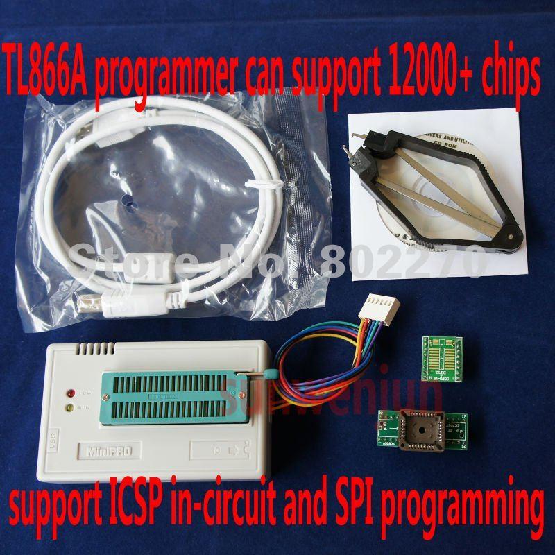 Высокоскоростной USB MiniPro программист TL866A может ICSP SPI в цепи программы/поддерживают более 12000 фишек/ поддержка WIN7 64 бит