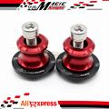 The latest Motorcycle Accessories CNC Aluminum Swingarm Sliders Spools 8mm For Suzuki HAYABUSA GSXR1300 1999-2015 Red