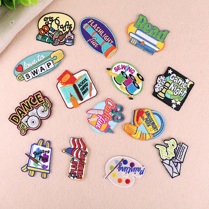 Embroidery Sew Iron On Patch Badge Transfer Fabric Bag Jeans Applique Craft WRDE