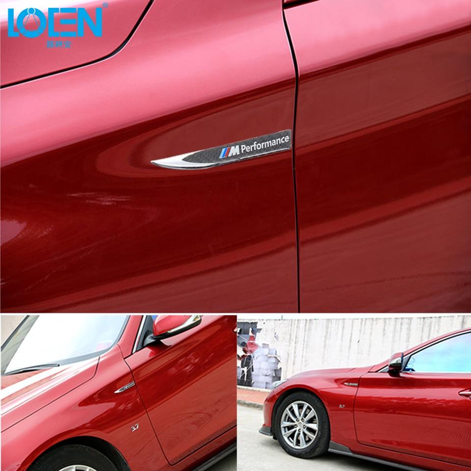 Car parking stickers design india - 2pcs Lot Car Styling Motosport M Performance Car Door Sticker Badge For Bmw Decal M3