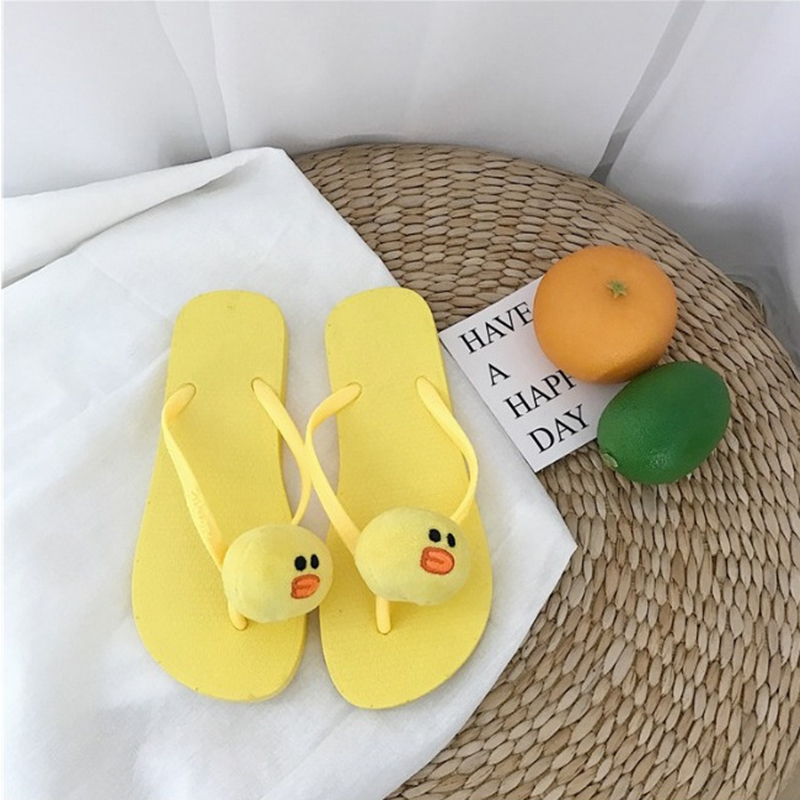 1b65a39d0c1b Plush bear rabbit chicken decorate cute flipflops cartoon animals beach  sandals girls summer cool slippers cozy slides mujer-in Slippers from Shoes  on ...