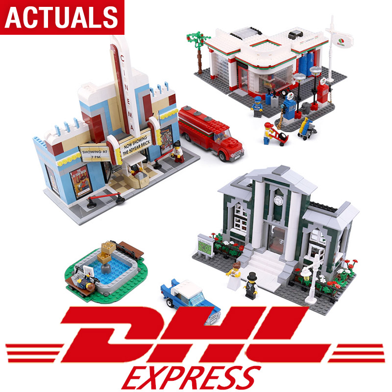 02022 Kid Toys 2080Pcs City Toys The Legoing 10184 Town Plan Set Building Blocks Bricks New Toys Model For Kids Christmas Gifts lepin 02022 kid toys 2080pcs city compatible legoing 10184 town plan set building blocks bricks assembled diy christmas gifts