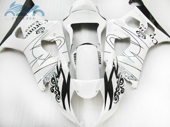 Customized Fairing kits for Suzuki K3 K4 GSXR 1000 2003 2004 motorcycle sport fairings kit GSXR1000 03 04 white corona BP62