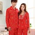 Традиционная китайская печатные любители домой пижамы ночная рубашка красный