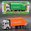 Brinquedos do bebê grande 1:32 Liga de metal Saneamento Engenharia Caminhão De Lixo Modelo diecasts Veículos Simulação brinquedos do menino crianças brinquedos de Presente