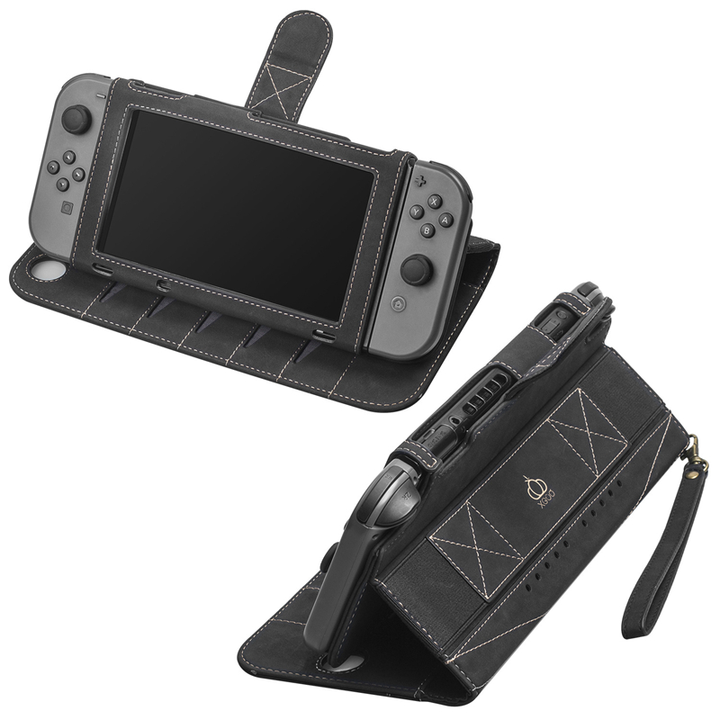 Nintend SWITCH Host Protective Cover Case Multi-function Leather Case for SWITCH Game Handle Split Leather Protective Case 1