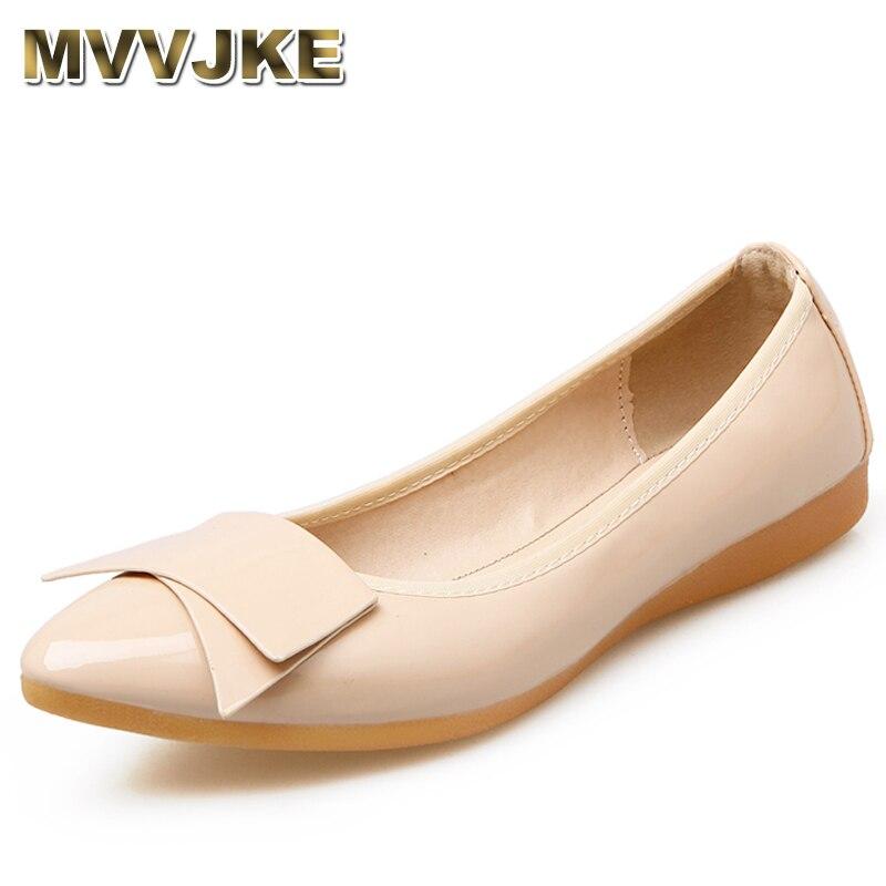En Casual Verni Plat rouge Femme E076 blanc noir Pliable Chaussures Apricot Doux D'été Ballet Femmes gris Mocassins Appartements Unique Mvvjke Printemps Cuir xEYqFESw