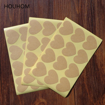 108pcs/lot Heart Shaped Candy Blank Kraft Paper Stickers Seal Labels Gift Lables Stickers Gift Wrapping DIY Wedding Party Decor image