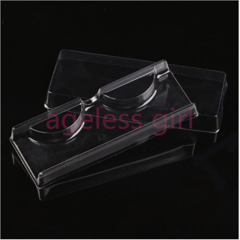 100/200/300 Pcs Eyelashes Soft Package Plastic Eyelashes Packing Tray Eyelashes Box  Eye Lash Packing Box Makeup Package Box