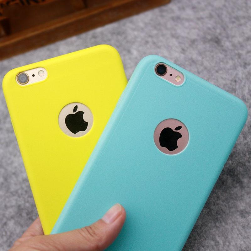 Galleria fotografica Silicon Case for iPhone 5S 5 5SE iPhone 6S 6 s iPhone 8 7 X 10 6Plus 6SPlus 7Plus 8Plus Gel Cell Phone Cover Casing Coque