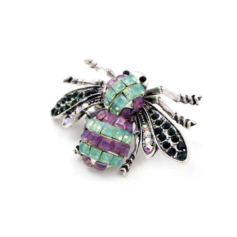 Cindy Xiang Vintage Resin Lebah Bros untuk Wanita Serangga Bros Pin Fashion Perhiasan Musim Panas T-shirt Aksesoris Baru 2018 Hadiah