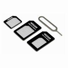 100 ADET Mikro Nano SIM Kart Adaptörü konektör kiti iPhone 6 Için 7 artı 5 S 5 Huawei P8 lite P9 xiaomi Redmi 4 Pro 3 Mi5 sim tutucu