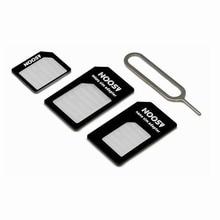 100 pcs Micro Nano SIM Card Adapter Connector Kit Para iPhone 5 6 7 mais 5S Huawei P8 lite P9 xiaomi Redmi 4 Pro 3 Mi5 sims suporte