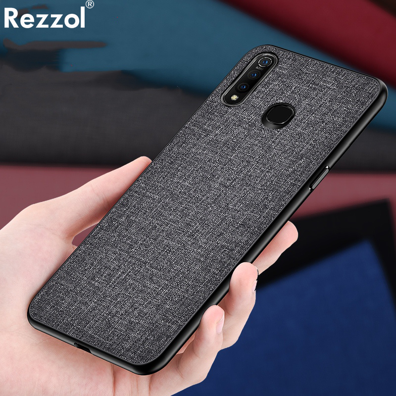 Cloth Hard PC <font><b>Case</b></font> For <font><b>vivo</b></font> Y19 <font><b>Y17</b></font> Y15 Y12 U3 U3X <font><b>Case</b></font> Soft TPU Bumper Back Cover For <font><b>VIVO</b></font> Z5X Simple Shokcproof <font><b>Case</b></font> Coques image