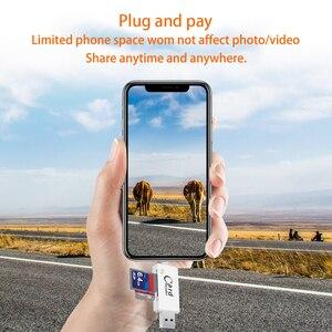 Image 5 - USB 3.0 ברקים כרטיס קורא OTG דיסק און קי microSD TF כרטיס זיכרון כרטיס קורא מתאם עבור iPhone 5 5S 6 7 8 X S6 S7 קצה