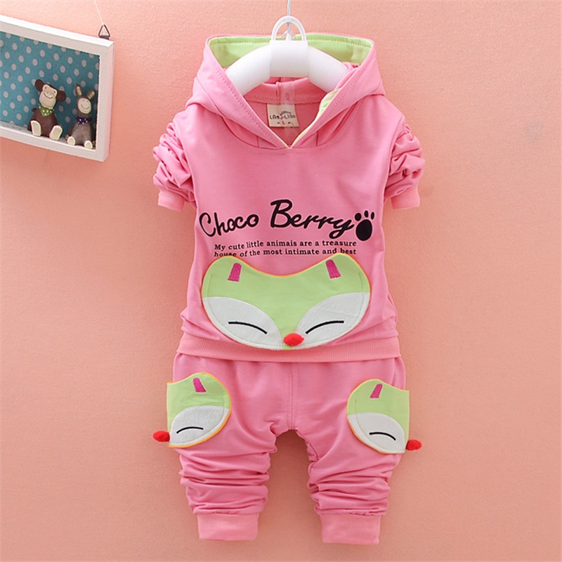 BibiCola kids girl clothes suit 2018 New 2pcs spring autumn children clothing set baby g ...