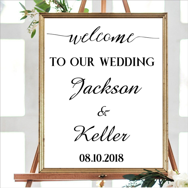 f6c836eabe5a2 Aliexpress.com : Buy Personalized Welcome TO OUR WEDDING sign Canvas Print  and Poster ,Custom name and date Rustic Wedding Decor Canvas Painting from  ...