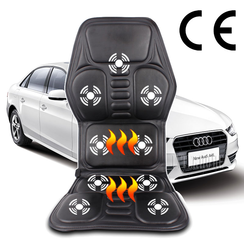 NEW Professional Electric Car Home Seat Massage Cushion Heating Massage Cervical Neck Back Hips Legs Household