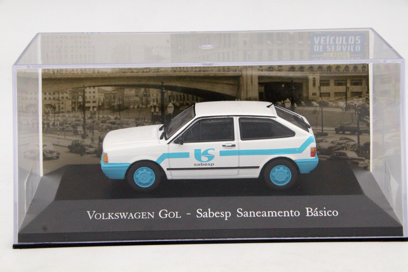 цена на IXO Altaya 1:43 Scale V~ W Gol Sabesp Saneamento Basico Toys Car Diecast Models Limited Edition Collection Auto