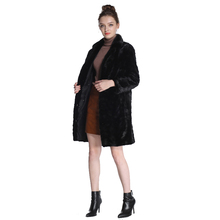 hot Mink Fur Coat Female Real fur coat Natural Fur Coats For Women 90CM warm waistcoat Women`s Genuine Fur Coat Parka DHL